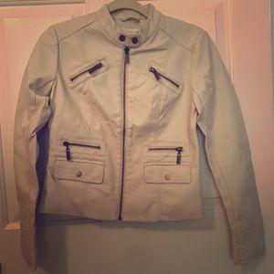 Faux Leather Zipper Jacket